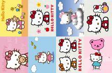 Водорастворимая бумага с рисунком Hello Kitty 216х139мм