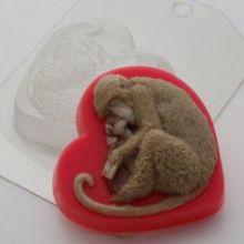 Форма для мыла Обезьяна с малышом